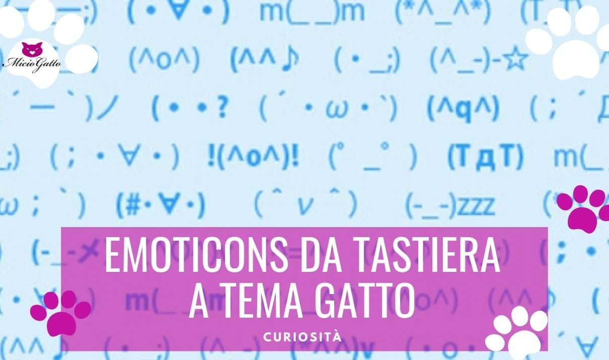emoticon da tastiera a tema gatto