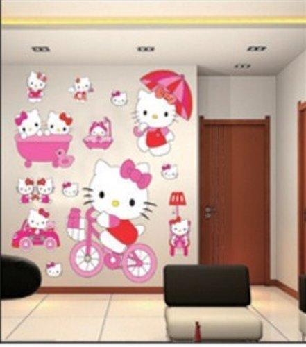 Adesivi murali bambini, grande ciao gattino, piccola principessa ...