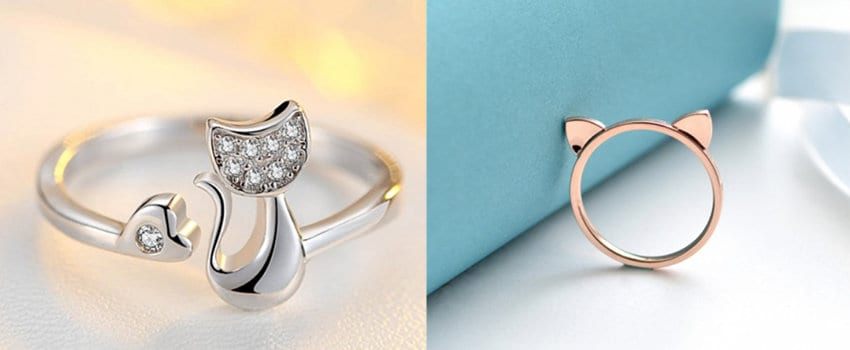 anelli a tema gatto regalo di natale