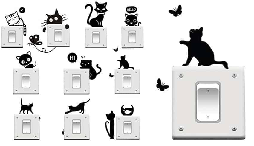 regali ama gatti adesivi parete