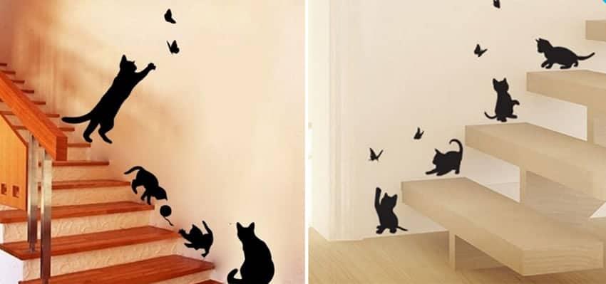 regali amanti dei gatti adesivi