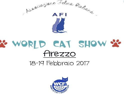 world cat show arezzo 2017