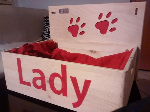 Cuccia in legno di lady