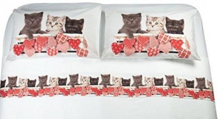 Completo per letto matrimoniale gatto