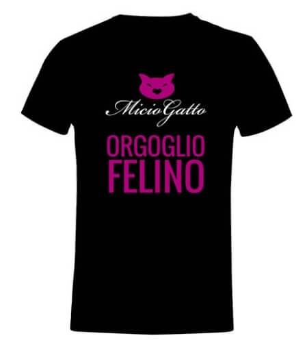 t-shirt miciogatto orgoglio felino nera