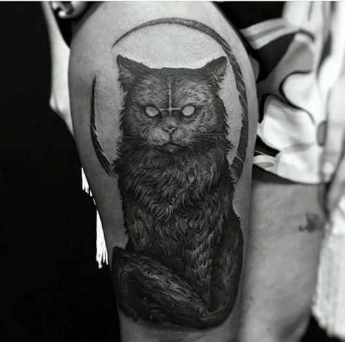 gatto nero tatuaggio