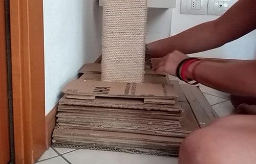 tutorial costruzione tiragraffi per gatti le basi
