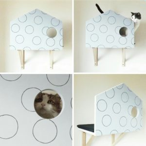 mobili per gatti mensole