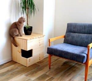 mobili per gatti toilette angolo