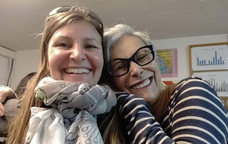 Con Silvia Zerenghi, volontaria fin dal 1995