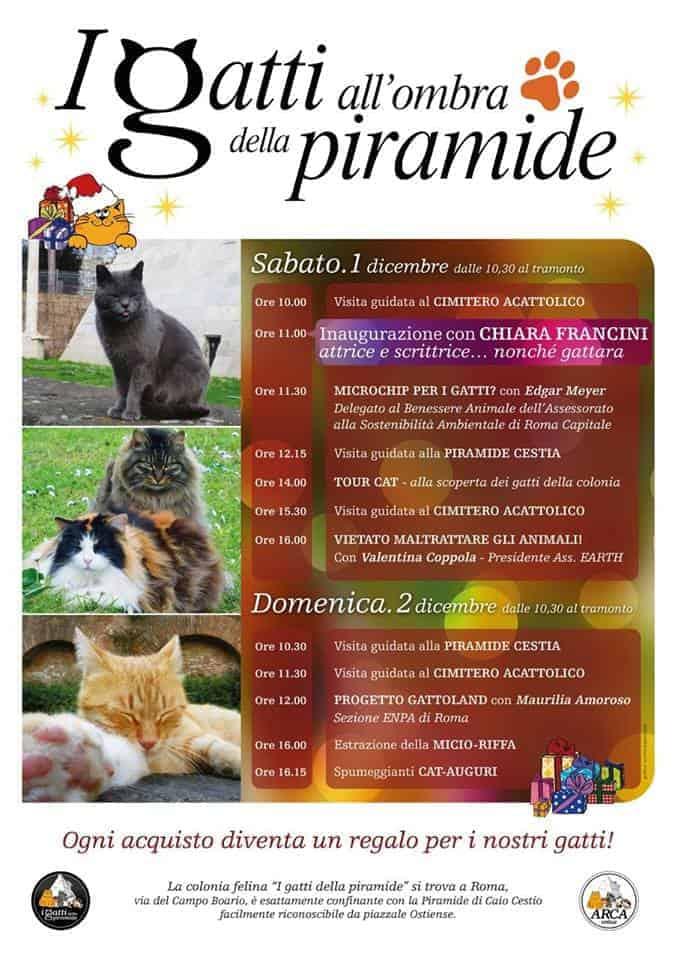 programma mercatino natalizio gatti della piramide