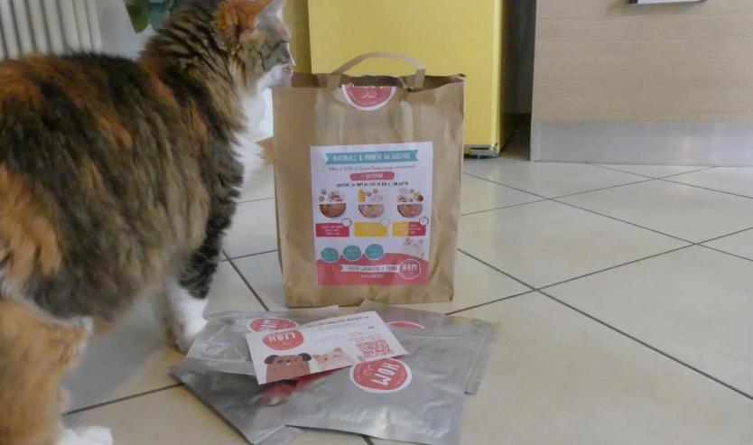 HOM il piatto fresco per gatti con il superfood