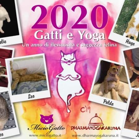 copertina calendario miciogatto 2020