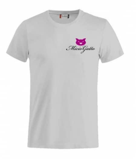 t-shirt miciogatto grigia fronte