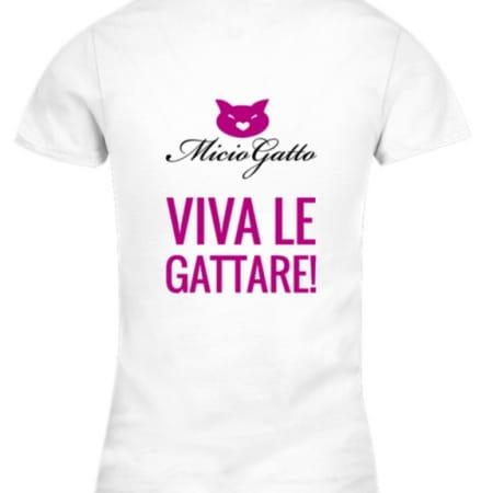 T shirt miciogatto viva le gattare