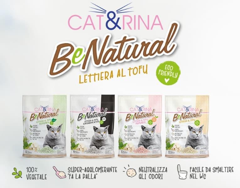 lettiera biodegradabile per gatti al tofu