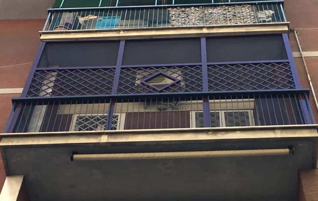 balcone in sicurezza per gatti